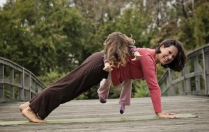 Plank on Bridge, Family Yoga Washington DC