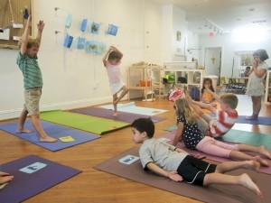 on location children's yoga class