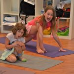 Kids Yoga Camp - sounding off in Lunge