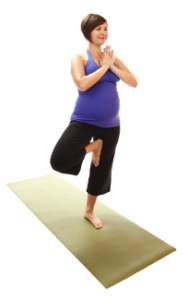 prenatal yoga posture