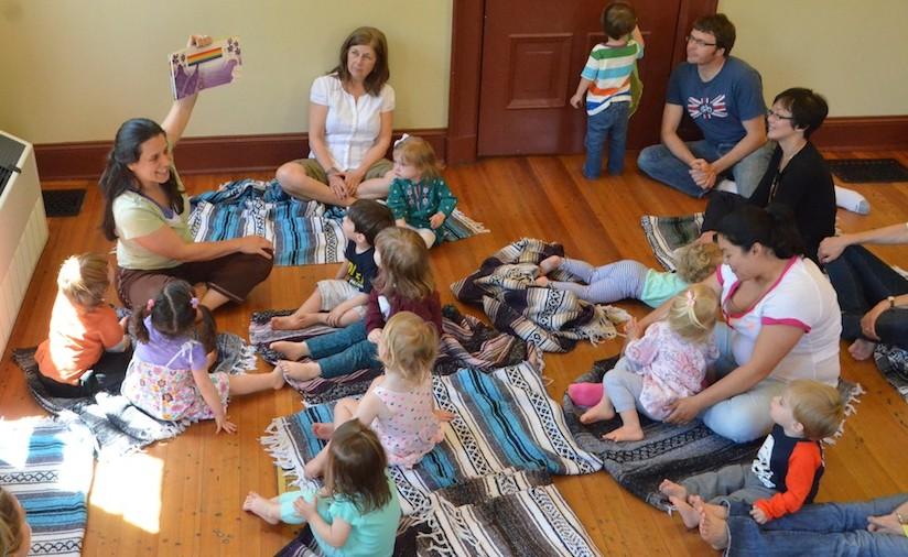 preschooler yoga, story time