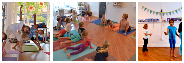 kids yoga collage