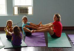 campers partner boat, kids yoga