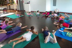 campers superman, kids yoga