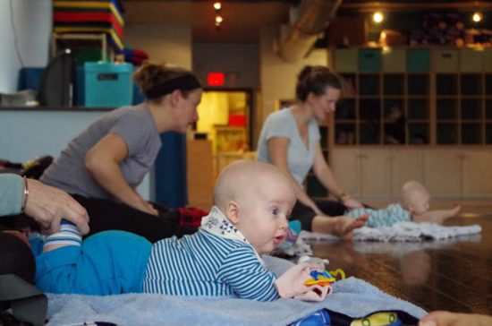 tummy time in baby yoga