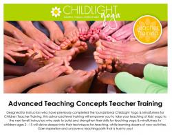 ChildLight Yoga & Mindfulness for Children: Advanced Teaching Concepts Teacher Training - November 2020 - DC @ Hyatt Place US Capitol