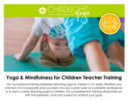 ChildLight Yoga & Mindfulness for Children Teacher Training - March 2020 - DC @ Hyatt Place US Capitol
