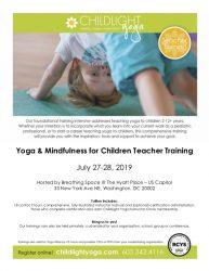 ChildLight Yoga & Mindfulness for Children Teacher Training - July 2019 - DC @ Hyatt Place US Capitol