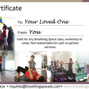 Gift certificate illustration