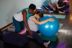 Prenatal Yoga Class - Teacher Adjustment