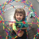 girl in hoberman sphere