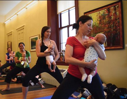 baby & me yoga, warriors
