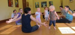 toddlers and family yoga class