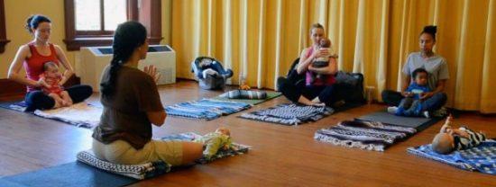 baby yoga class, centering