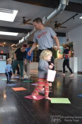 marching game, preschooler yoga