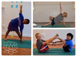 boys in yoga poses