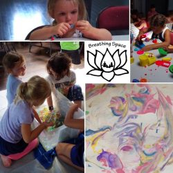 arts, crafts, sensory, kids yoga camp