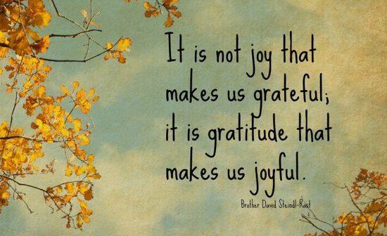 gratitude and joy quote image