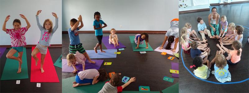 kids yoga collage