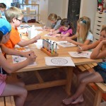 kids yoga camp drawing