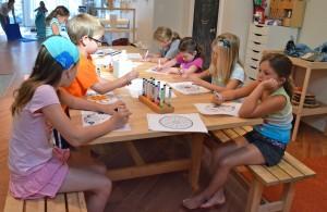 kids yoga camp drawing