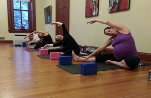 Prenatal Yoga Class - Side Stretch