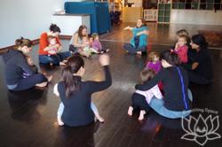 tot yoga class circle
