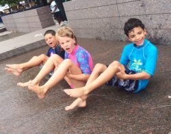 Summer Camp, Water play, Yards Park 2015