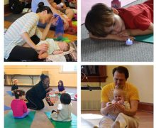 collage of kids yoga classes